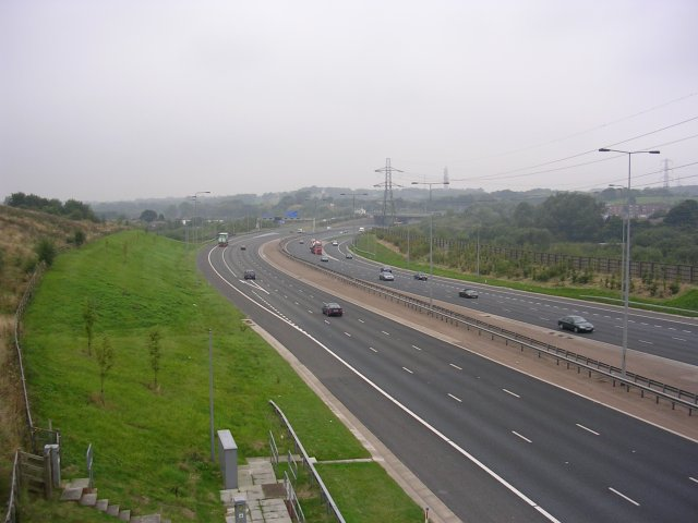 M60 Motorway and Irk Valley