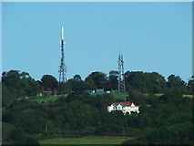 SX5355 : Television and Relay Masts, Hardwick Hill by Gwyn Jones