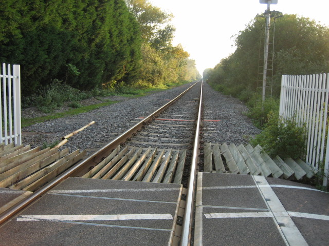 Bicester to Oxford line looking south-west