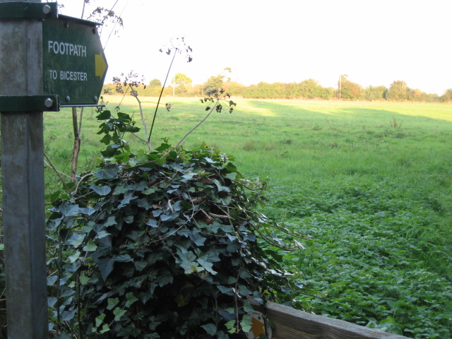 Footpath to Bicester from Bignell House