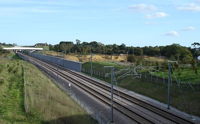Sandpit bisected by new railway