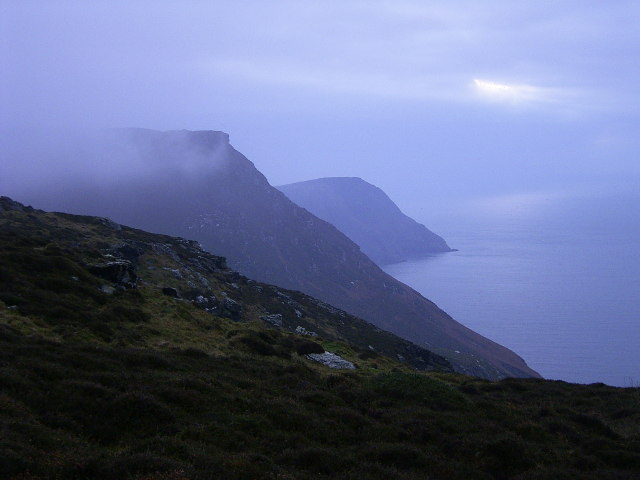 View from above The Sloc towards Lhiattee ny Beinnee