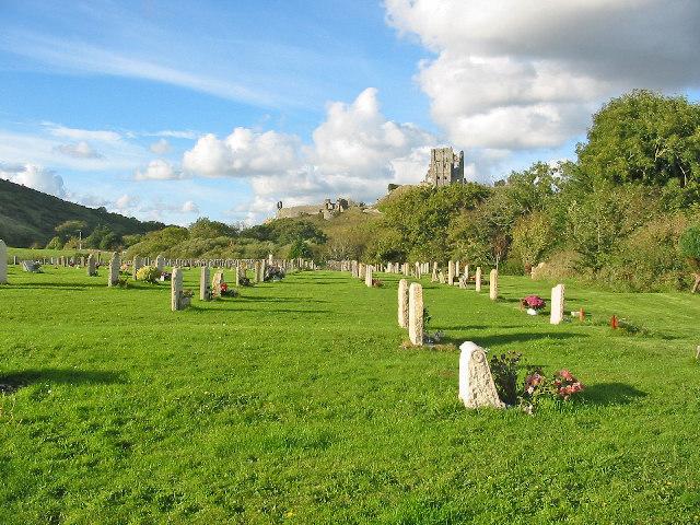 Cemetery at Corfe Castle.
