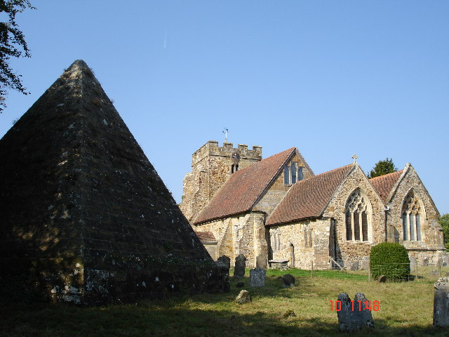 Pyramid in Brightling Churchyard