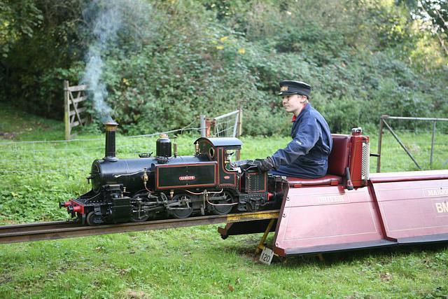 Miniature steam railway at Brambridge Garden Centre