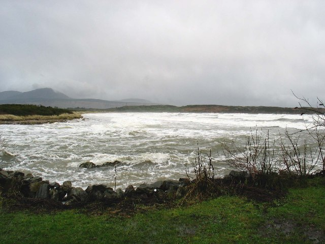 Stormy day Carradale Bay, Kintyre.