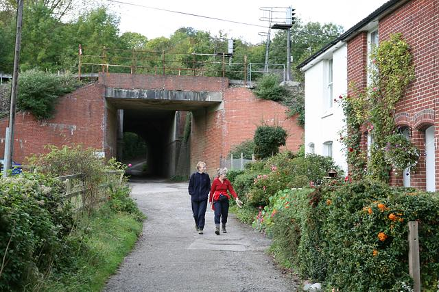 Railway bridge at Bridge Terrace, Shawford