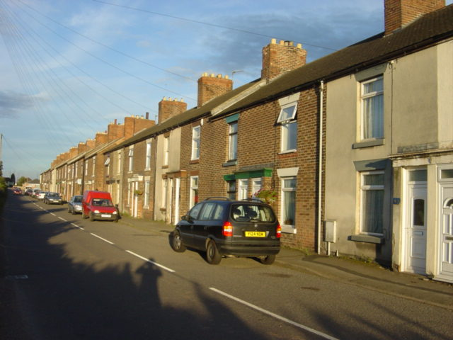 Terraced housing at Linton Heath