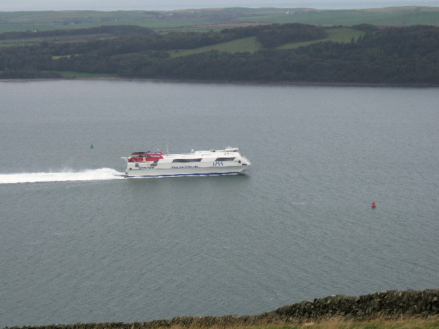 The Stena Voyager HSS on Loch Ryan