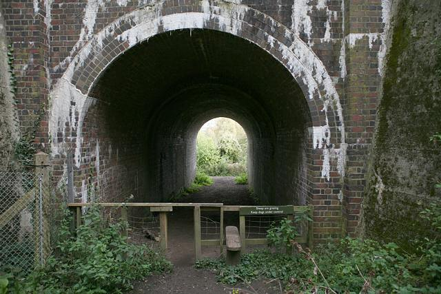 Tunnel under railway to Itchen Way