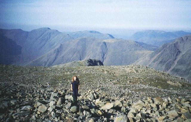Scafell Pike plateau.