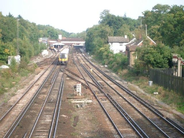 Weybridge junction and station
