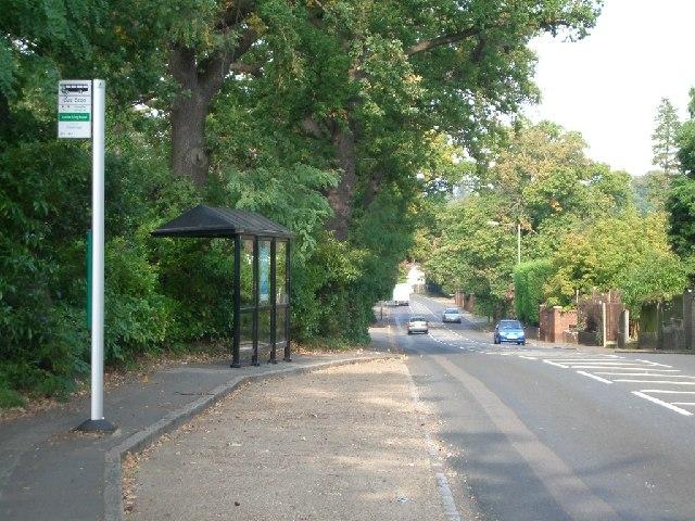 Bus stop in Brooklands Road