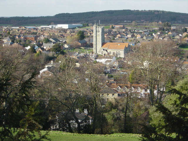 Carisbrooke from the Castle