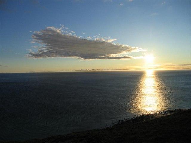 Evening Sun from the B8021 near Peterburn