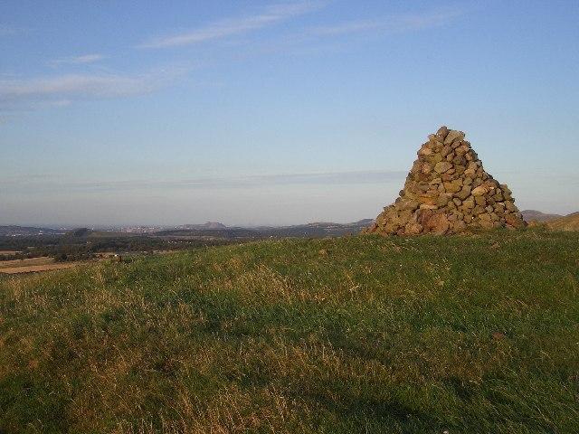 Cairn on Corston Hill west ridge