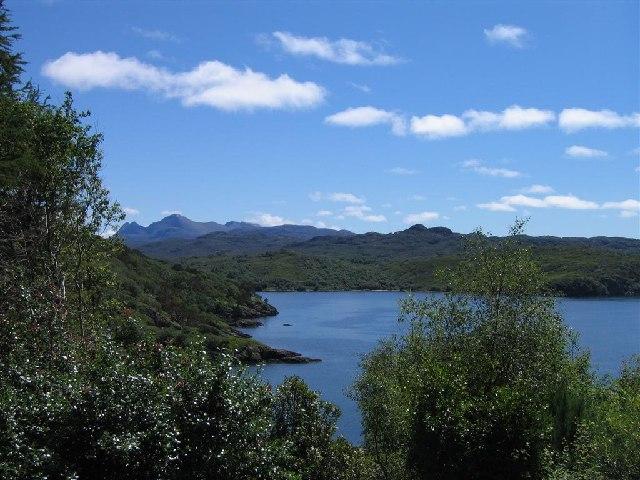 Charlestown coastline and Loch Gairloch