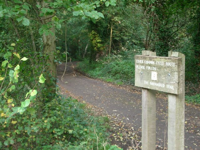 Esher Common cycle route