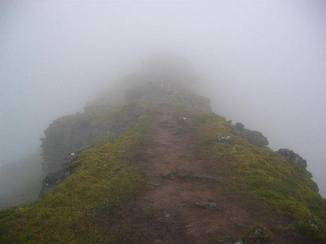 The 3rd Horn of Alligin in mist