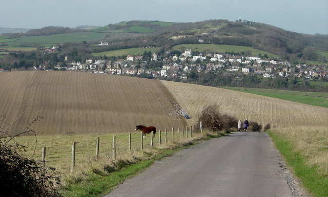 View from Bembridge Down towards Brading