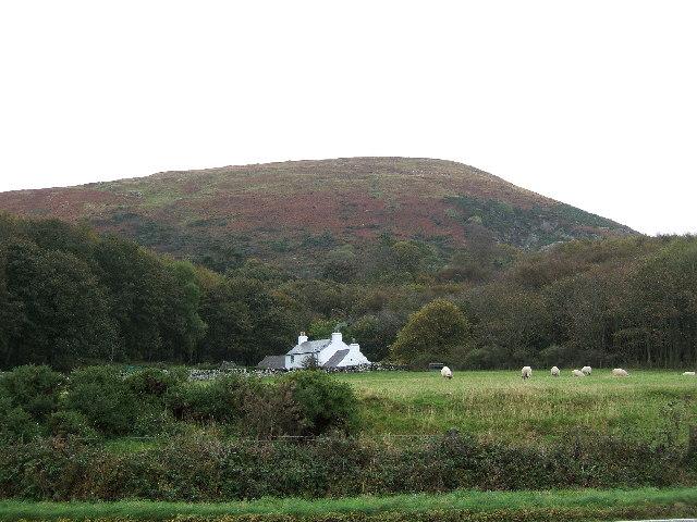 Cairn Hill overlooking the village of Cairnryan.