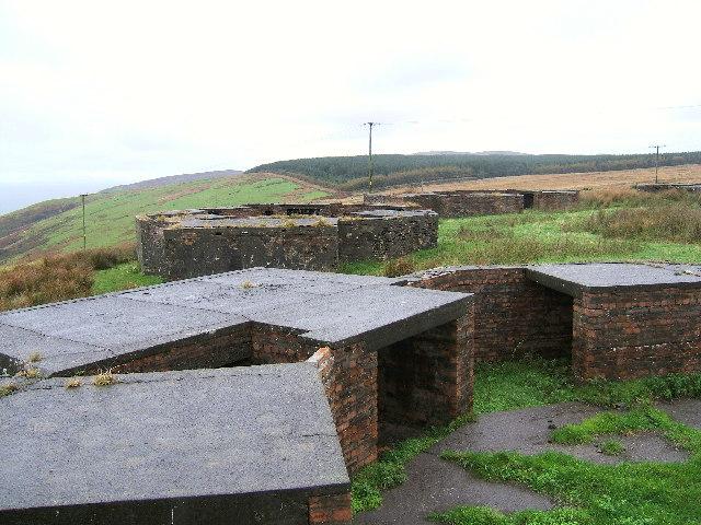 A Second World War gun battery emplacement overlooking Loch Ryan.