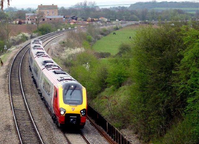 Railway line near Tibberton