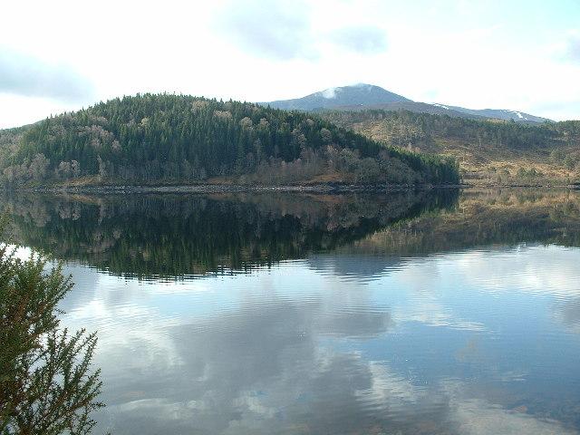 Loch Garry near Invergarry from the A87.