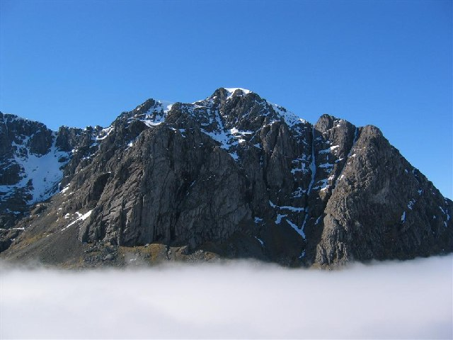 Ben Nevis - North Face above Cloud Inversion