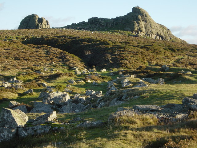 Haytor Rocks from the north