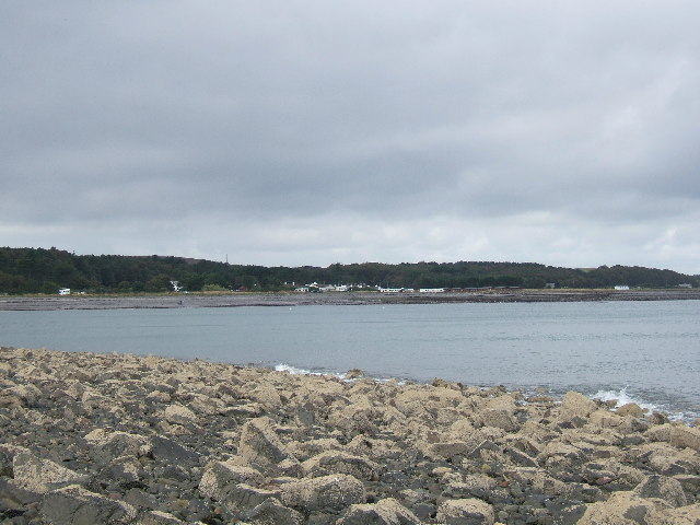 Chapel Rossan Bay looking across to Ardwell village and caravan site.