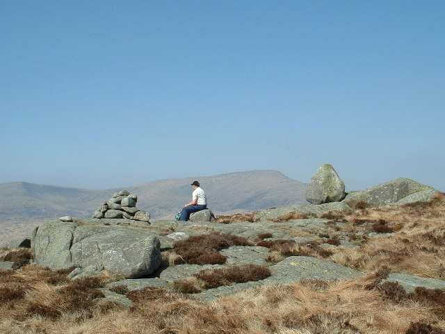 The summit of Craiglee (531m) on a lovely April day.
