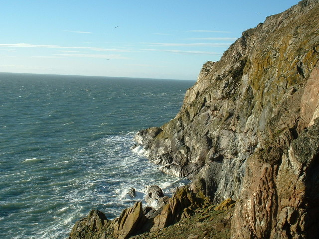 Lythe Mead rocks, Mull of Galloway, Scotland's most South Westerly point.