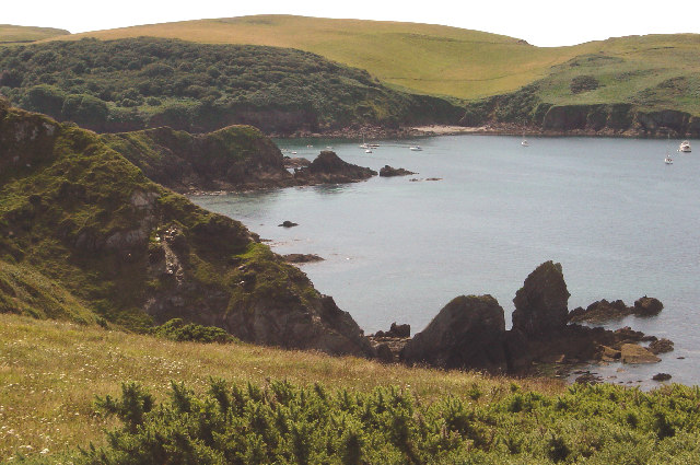 Woolman Point and The Old Priest, Hope Cove