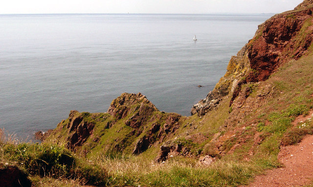 Cliffs above Redrot Cove, Bolt Tail