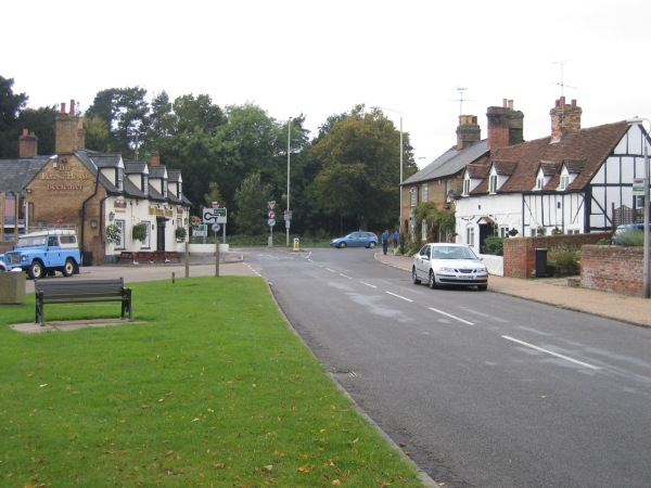 Clophill village green and High St, Beds