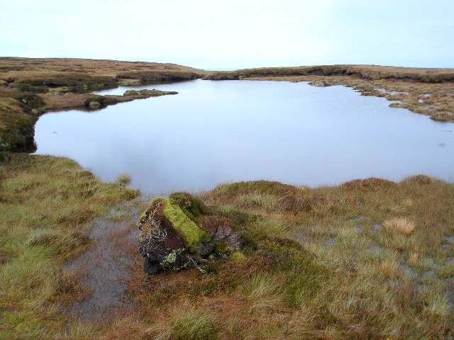 Unnamed Lochan near summit of An Cuiadh