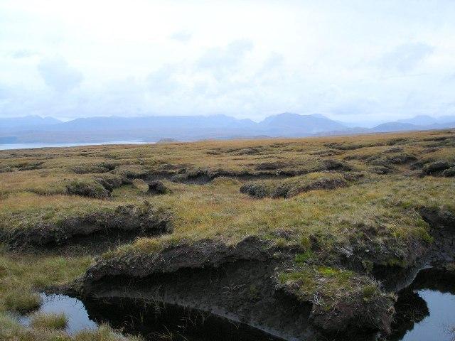 Moorland near summit of Cnoc a' Ghaorr'