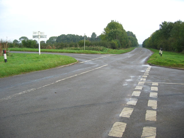 Country crossroads in NE Leicestershire