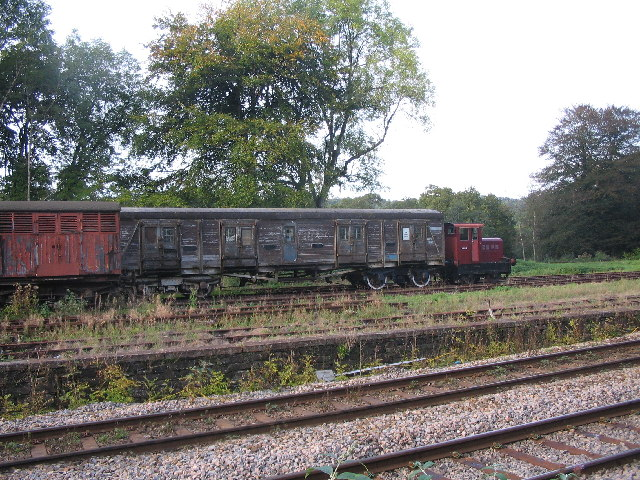 Big train, little engine.