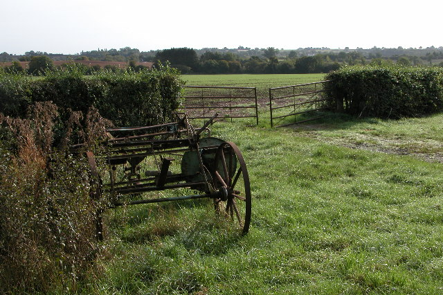 Old farm machinery at Blackwells End Green