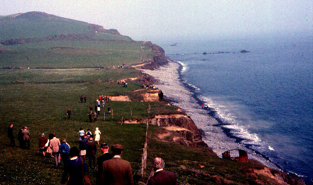 Opening the South West Coastal Footpath - Cornborough  1978
