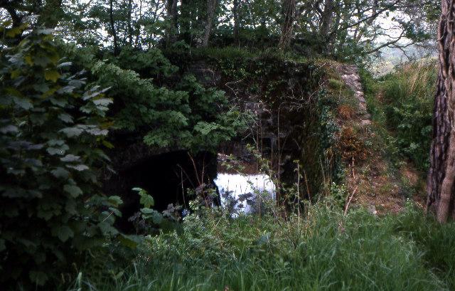 Disused Canal Bridge near Bridgetown 1978
