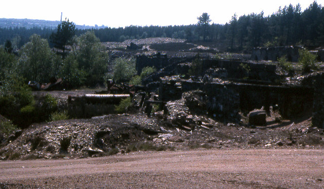 Disused arsenic mineworkings, Blanchdown Wood 1978