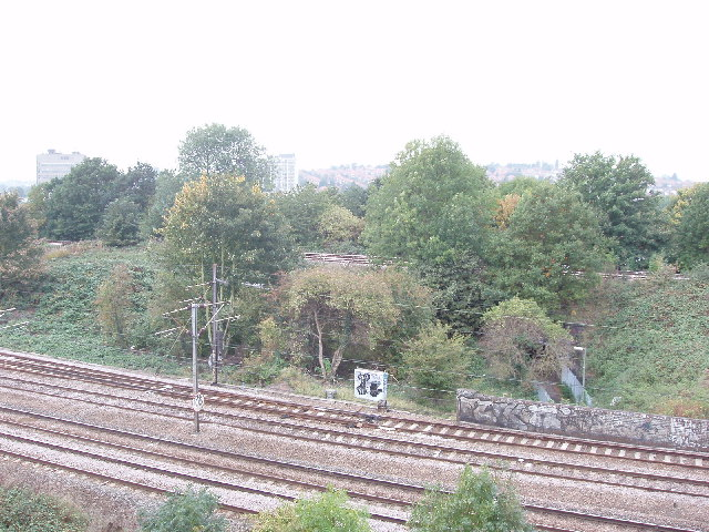 Railways from the Motorway bridge, Hendon