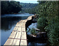 SX4272 : Fishing platforms, River Tamar by Crispin Purdye