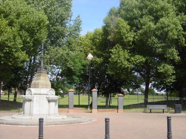 Park entrance, Crown Street and Falkner Street, Edge Hill.