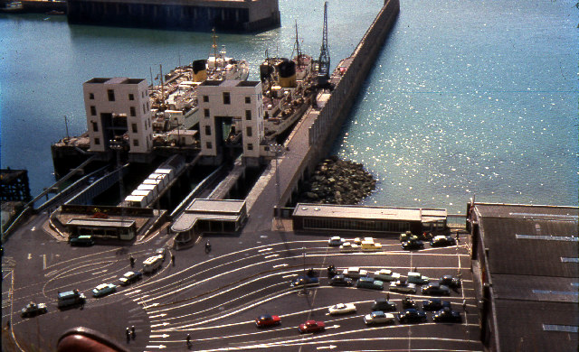 Ferry bridges, Dover Eastern Docks circa 1963