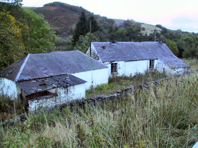 Derelict Cottages at Evan Water.