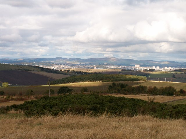 Dundee city from Lucklaw, Fife